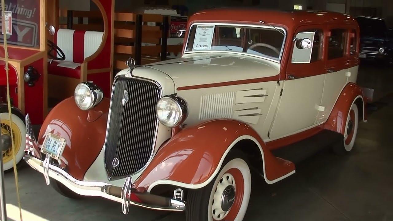 1934 plymouth 4 door sedan vintage classic automobile for 1934 pontiac 4 door sedan