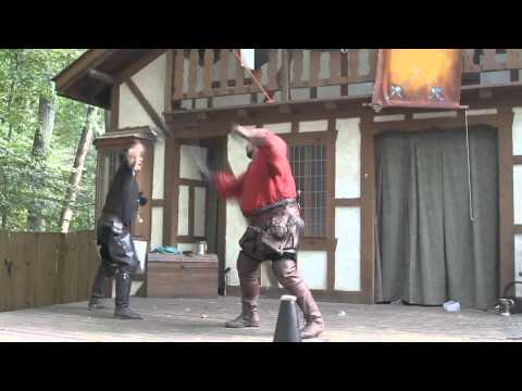 Hack and Slash Comical Swordplay at Maryland Renaissance Festival, 26 September 2010