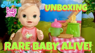 🍓Rare Baby Alive Snack N' Spill Baby Doll Birthday Unboxing with Skye & Caden!🎁