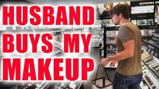 HUSBAND BUYS MY MAKEUP CHALLENGE