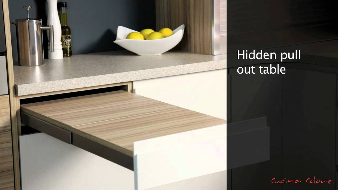 Mereway Kitchens Segreto Pull Out Table Youtube