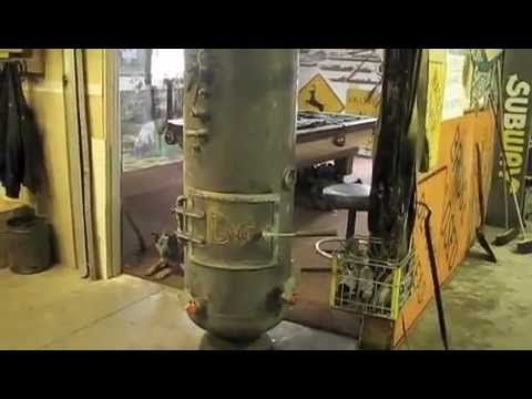 Oil Drip Stove from Large Propane Tank