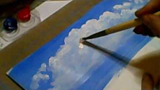 How to paint a CLOUDY sky tutorial - Jennings644