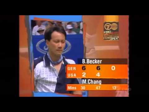 Full Highlights of Boris Becker vs Michael Chang from the final of the Australian Open 1996.