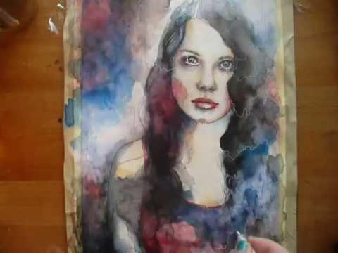 Watercolor Portraits Tutorial Watercolor Portrait Speed