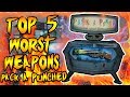 Top 5 WORST Pack a Punched Guns! Call of Duty Zombies Black Ops 3, BO2, BO & WAW Gameplay