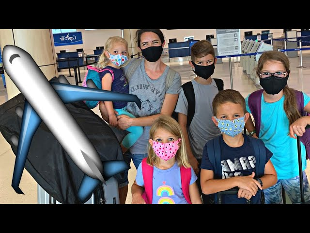 ✈️Flying Alone with 5 Kids During a Pandemic!