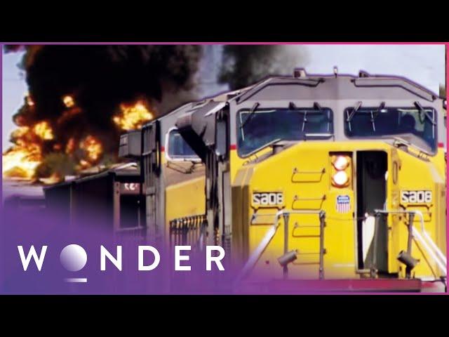 Horrifying Runaway Train: San Bernardino train disaster SP 7551 East | Mayday | Wonder