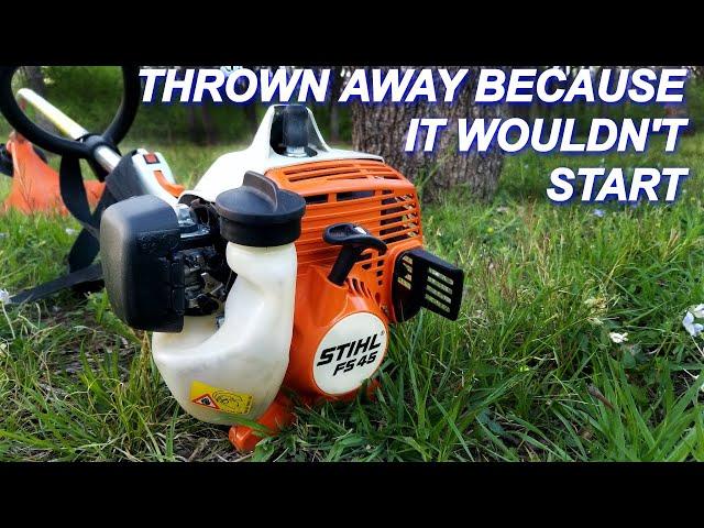 Free Stihl Trimmer thrown away because it won't start