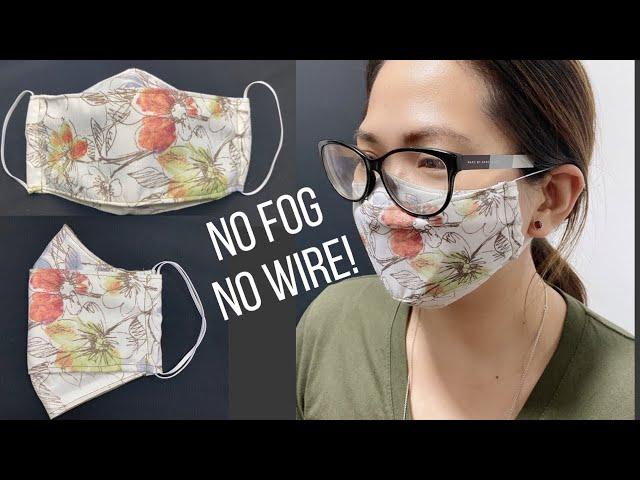 NO FOG Glasses Wearer Face Mask! | 3D FACE MASK SEWING TUTORIAL