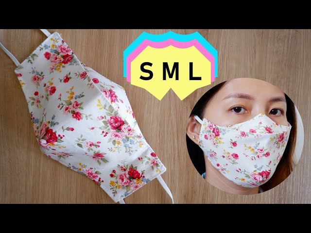 [S,M,L❤ 3 LAYERS] 3D Face Mask Sewing-Tutorial | DIY Breathable 3D Face Mask