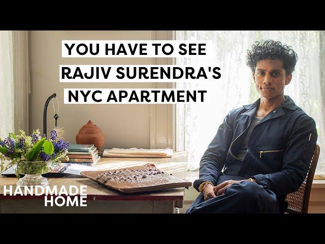 Tour Rajiv Surendra's NYC Apartment Filled With Handmade Decor...and Chalk Art! | Handmade Home Tour