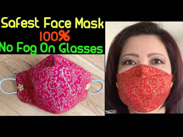 (#196)How To Make The Best Fitted-No Fog On Glasses Face Mask - The Twins Day Face Mask Tutorial PDF