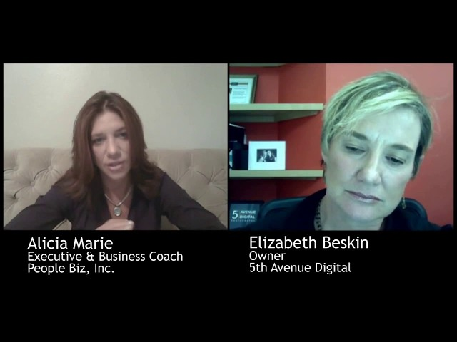 Business Coaching Session with Business and Executive Coach Alicia Marie and Elizabeth Beskin