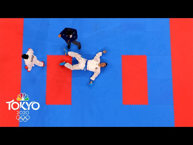 Tareg Hamedi loses gold medal after knocking opponent out cold   Tokyo Olympics   NBC Sports