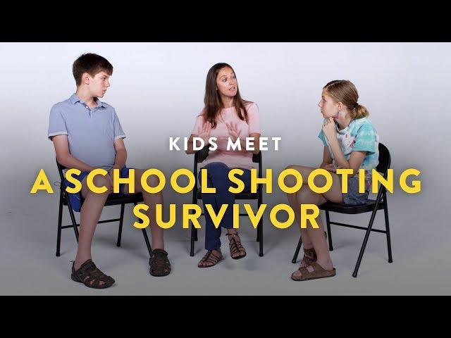 Kids Meet a School Shooting Survivor | Kids Meet | HiHo Kids