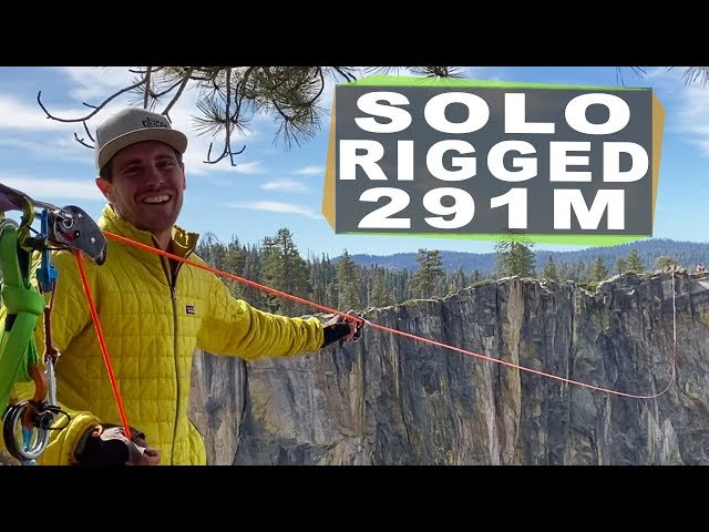 How I rigged a complex 291m highline in Yosemite BY MYSELF in 12 hours