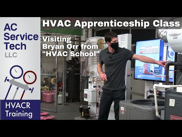 HVAC 1st Year Apprenticeship Class, How an AC Works, Refrigeration Cycle w Bryan Orr- HVAC School