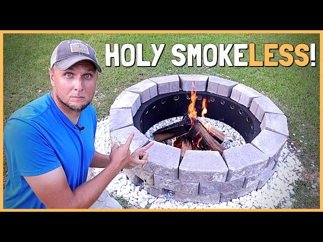 How To Build a DIY Smokeless Fire Pit That Really Works!