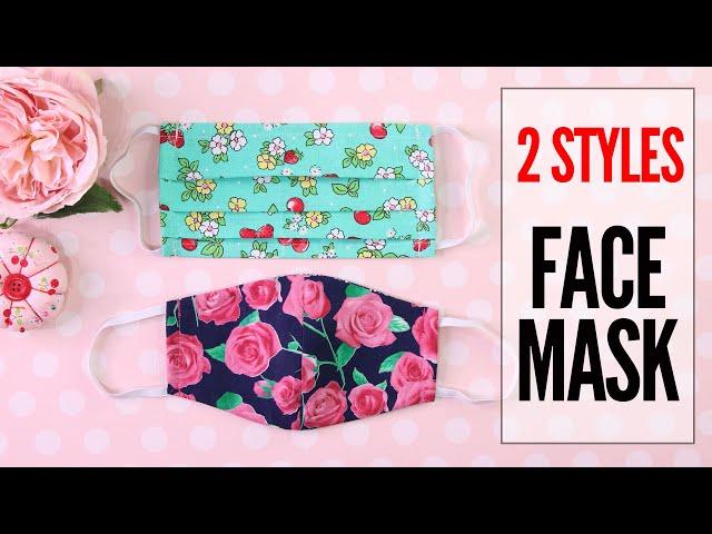 DIY Mask, Face Mask - 2 Styles - Fabric Face Mask Pattern