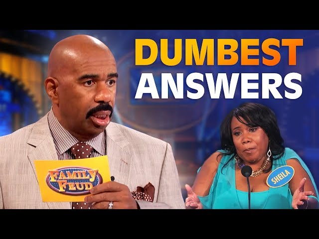 DUMBEST ANSWERS EVER! Steve Harvey is SPEECHLESS!   Family Feud