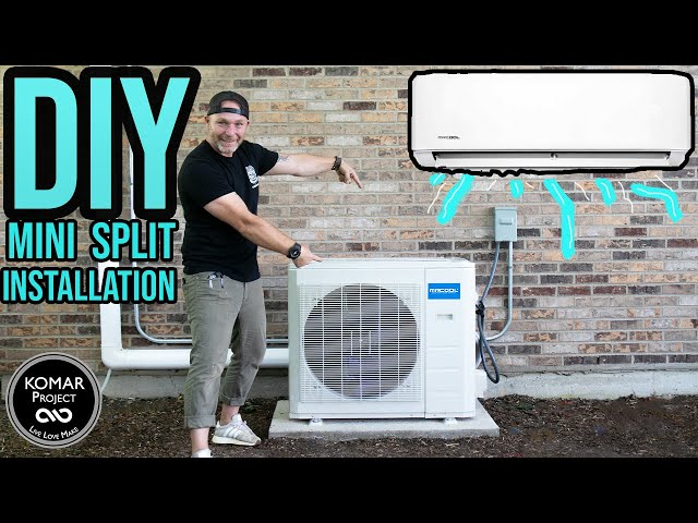 How to Install a DIY Mini Split Air Conditioning and Heat Unit.  MR COOL 24K Split Unit