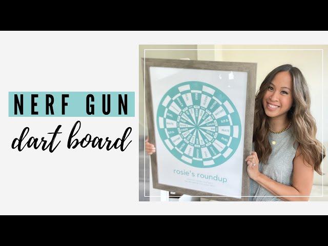 diy custom nerf gun dart board game