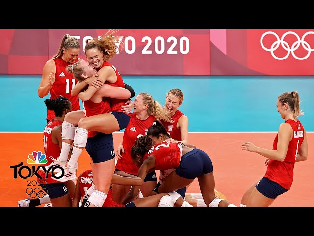 United States SWEEPS Brazil in Tokyo to win historic first Olympic volleyball gold   NBC Sports