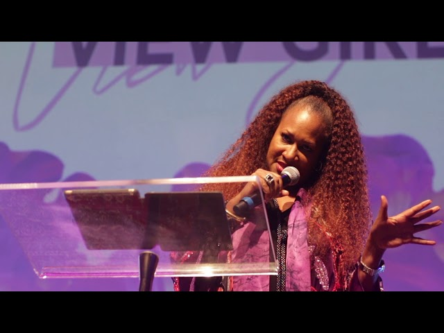 """""""God Is Interested In You"""" Michelle McKinney Hammond at View Girls Conference"""