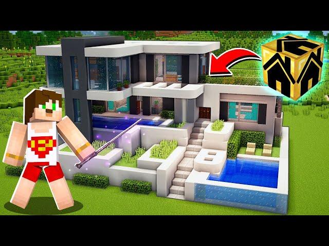 TEK TIKLA SİHİRLİ Minecraft EVİ YAPIYORUZ