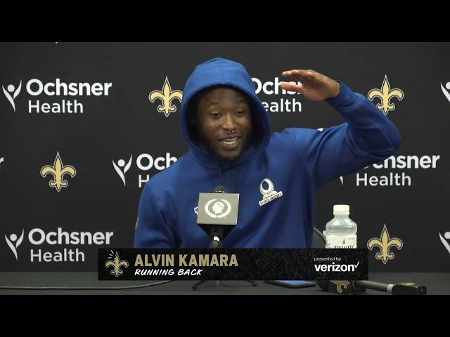 Alvin Kamara on Sean Payton, Week 7 game plan   New Orleans Saints 10/22/21