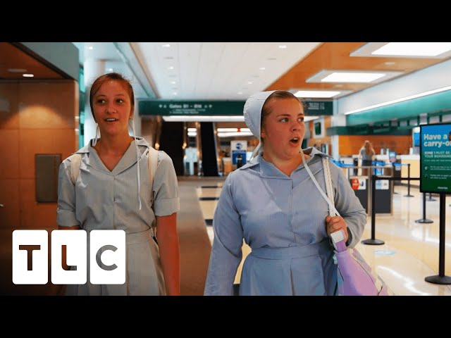 Amish Girls See Airport For The First Time | Return To Amish