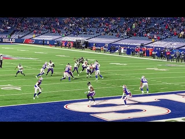 Buffalo Bills Taron Johnson 101 yard Interception return for a TD. AFC Divisional Playoffs vs Ravens