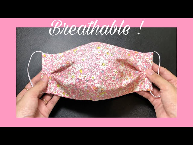New design - breathable! How to make an easy pattern & sewing tutorial | DIY fabric mask at home
