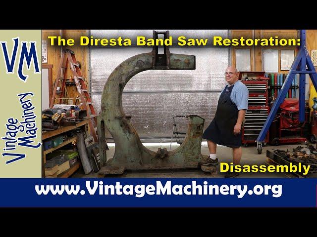 "The Jimmy Diresta 48"" Band Saw Restoration: Disassembly"