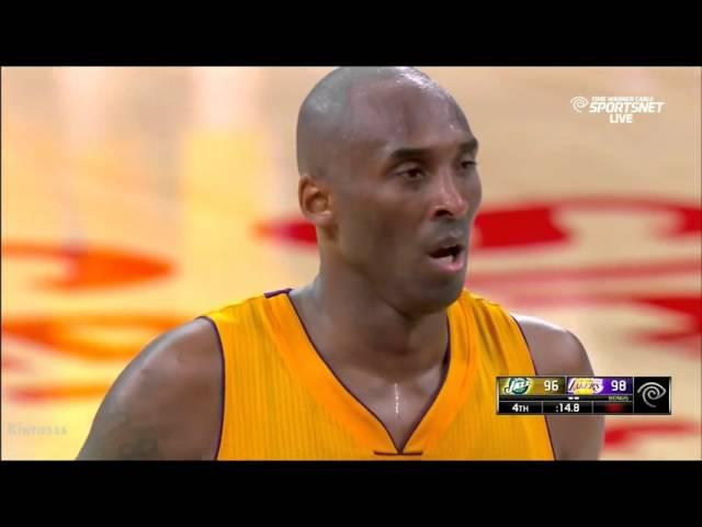 Kobe Bryant Amazing last 3 minutes in his FINAL GAME vs Jazz (04/13/16)