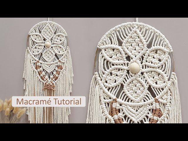 DIY Tutorial l How To Make Macramé Flower Pattern Wall Hanging Décor?