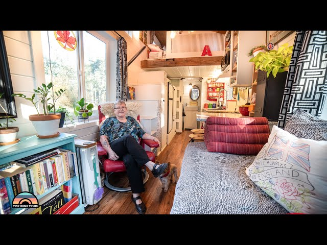 Her Adorable DIY Tiny Home for Retirement - Divorce To Living Simple