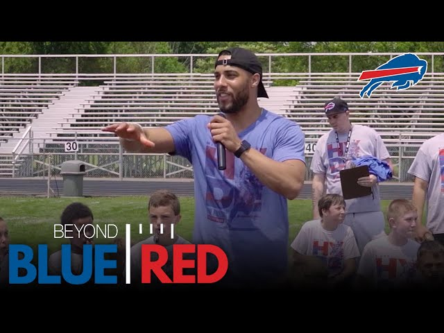 Micah Hyde Uses Childhood Lessons to Teach the Next Generation   Beyond Blue & Red
