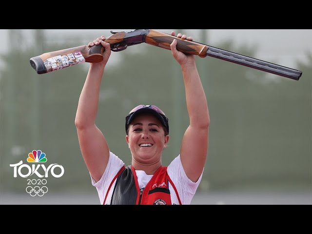 USA's Amber English knocks off reigning champ for skeet gold | Tokyo Olympics | NBC Sports