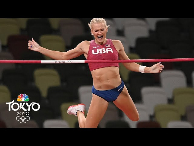 American Katie Nageotte goes from near-disaster to POLE VAULT GOLD | Tokyo Olympics | NBC Sports