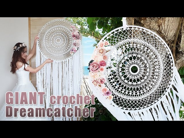 Crochet Doily Tutorial l How To Make A Giant Crochet Dreamcatcher ?