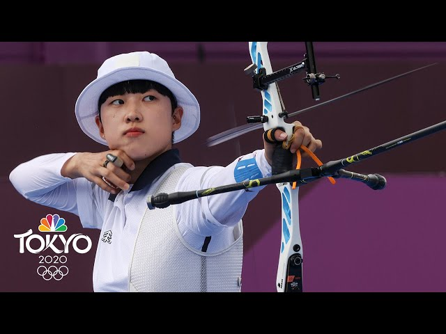 An San earns women's archery gold in thrilling final shoot-off   Tokyo Olympics   NBC Sports