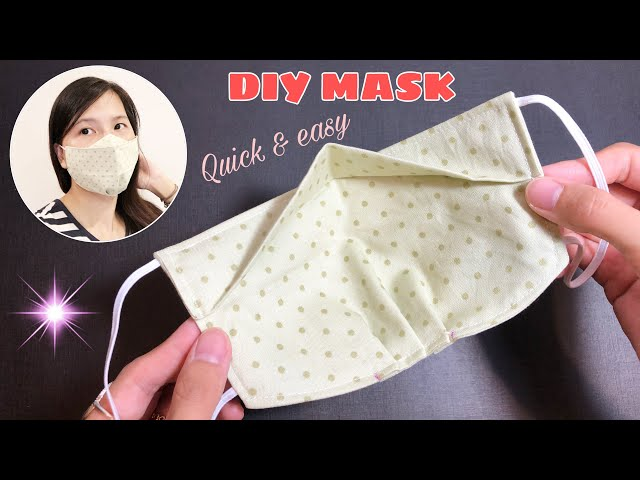 New design - NO FOG ON GLASSES - Very quick & easy 3D face mask sewing tutorial -DIY Breathable mask