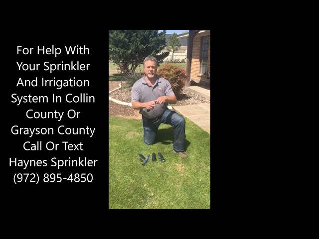 Sprinkler Nozzle Filter Repair And Replacement In McKinney And Collin County And Grayson County