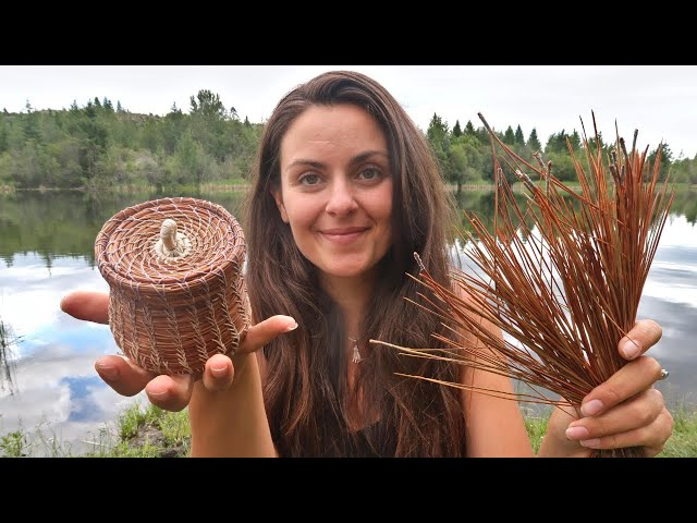 Making a Basket from PINE NEEDLES   Start to Finish Project