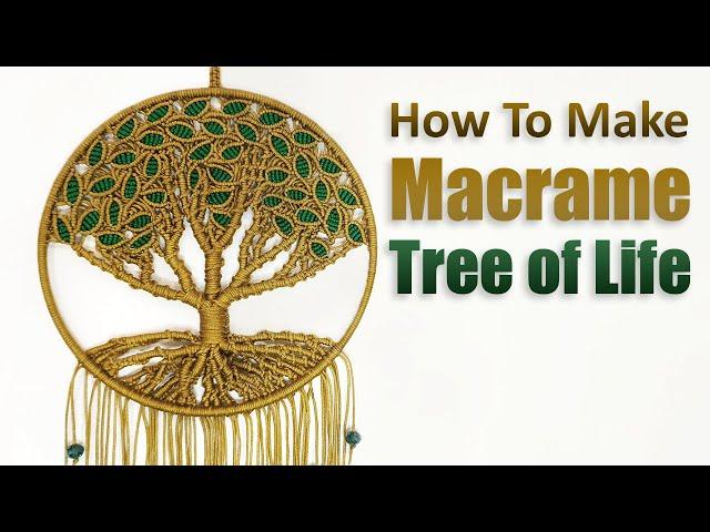 DIY Tutorial l How to Make Macrame Tree of Life