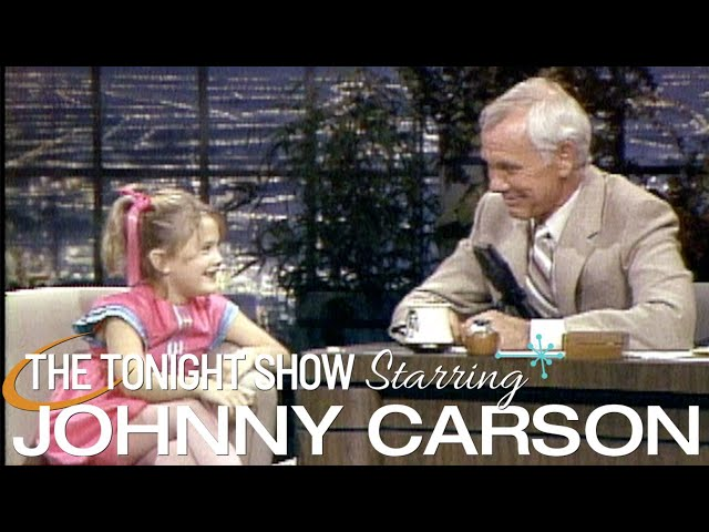 Drew Barrymore's Classic First Appearance   Carson Tonight Show