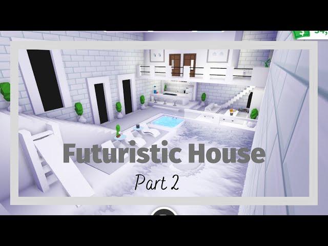 Futuristic House Part 2 Speed Build Tour Roblox Adopt Me Litetube