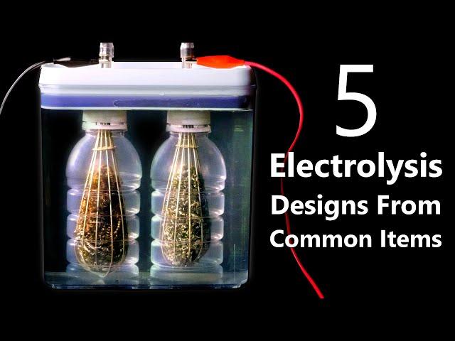 DIY Hydrogen/Oxygen Generators From Grocery Store Items (HHO Fuel Cells & Split Cell Electrolysis)